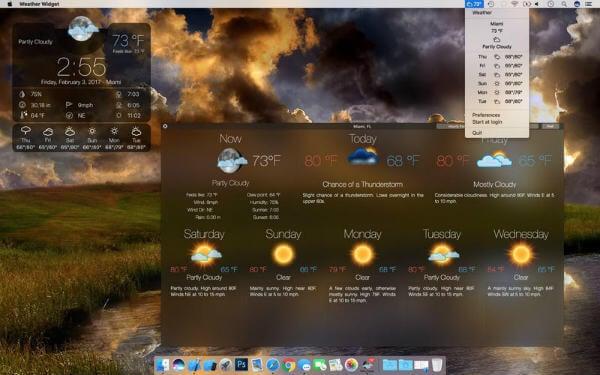 Weather Widget Desktop forecast