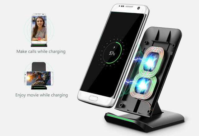 Pictek 2 Coil Wireless Charger