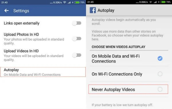 How to Turn Off Facebook Video Autoplay on Android & iPhone | Mashtips