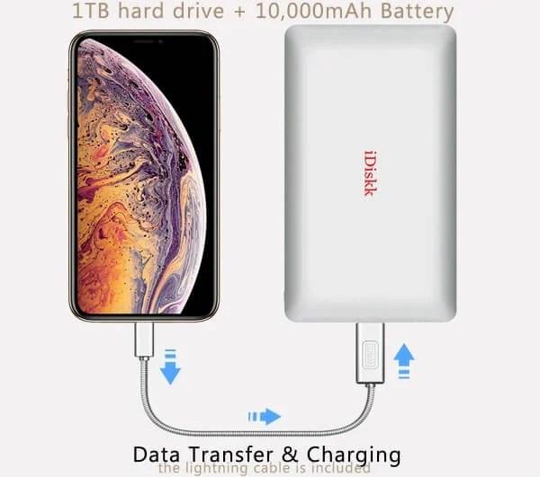 iDiskk 1000GB Hard Drive iPhone