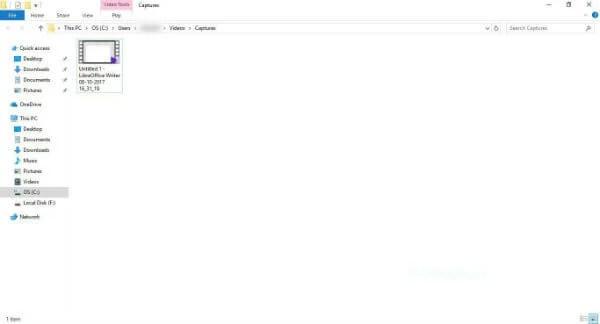 Windows Explorer Captures Folder
