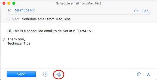 A Simple Solution to Schedule Email on Mac to Send Later