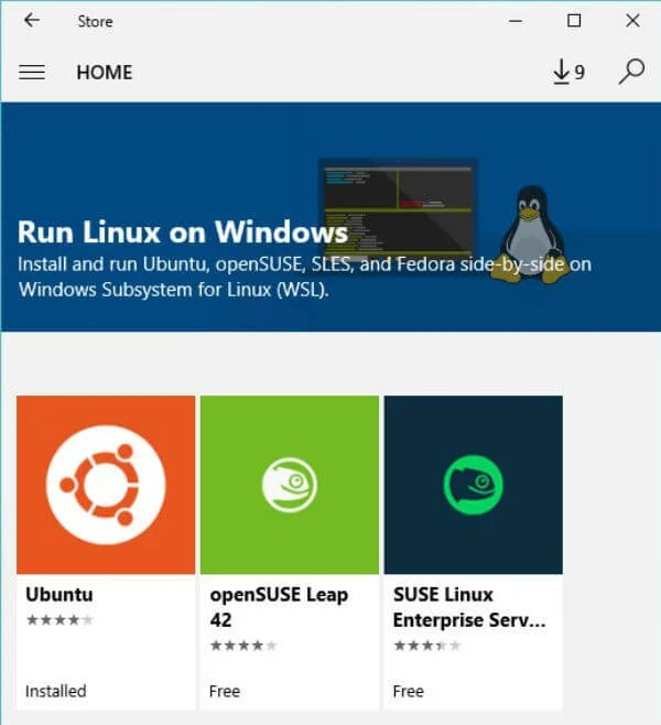 windows 10 fall linux