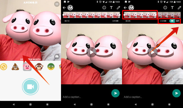 Animoji on Android WhatsApp