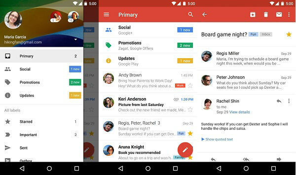 Choose your built-in Android email app: