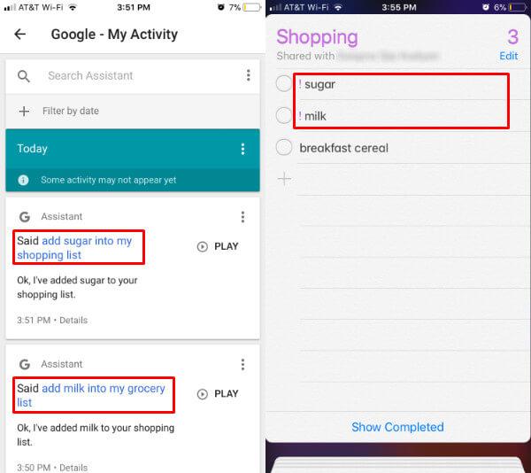 Google Assistant iOS Reminder