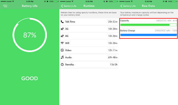 iPhone Battery Life App