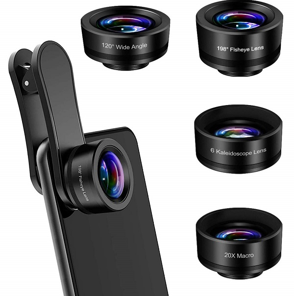 AFAITH Upgraded 4 in 1 Phone Camera Lens
