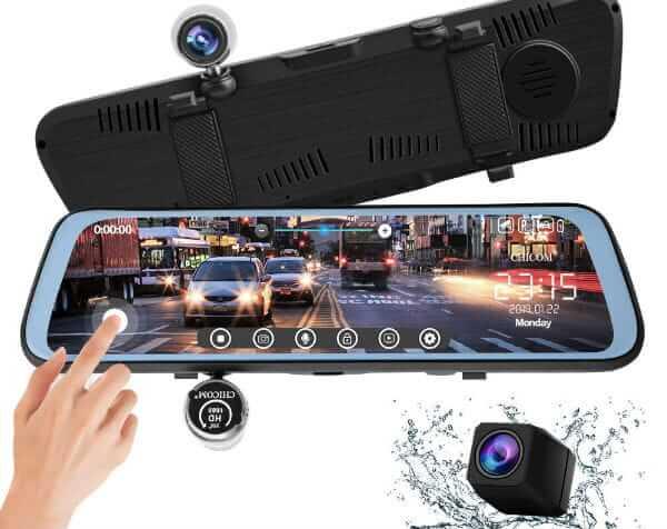 CHICOM Mirror Dash Cam Touch Full Screen