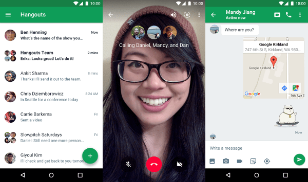 Google hangouts Android