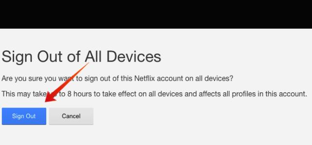Netflix Sign out Confirm