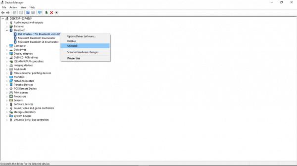 Windows10 Bluetooth Uninstall
