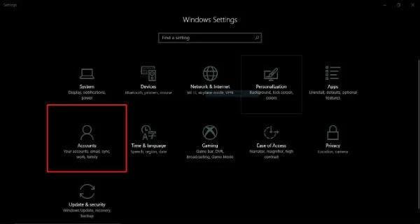 Windows10 Home Settings