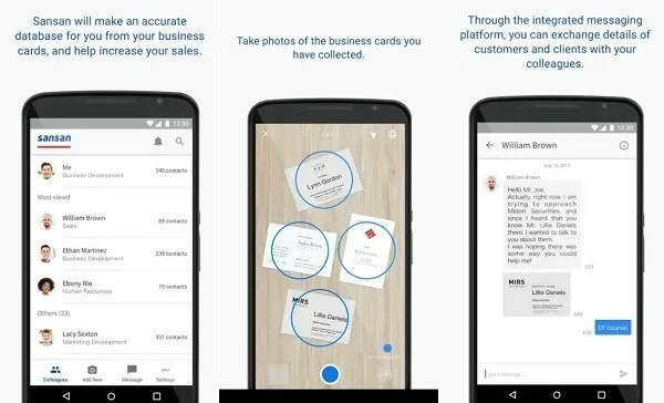 Best business card scanner apps for android mashtips the app is coming with ocr capability to digitize business cards to the database or you can request service from sansan team members colourmoves Choice Image