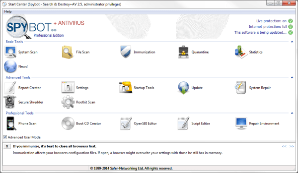 Spybot - Search & Destroy Anti-malware & Antivirus Software