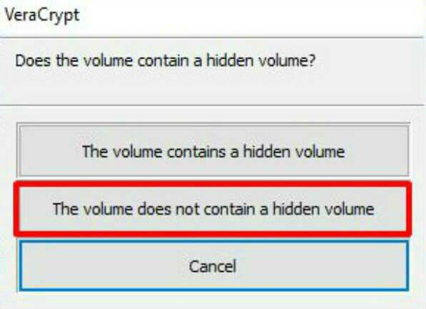 VeraCrypt Volume Type