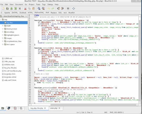 BlueFish best text editor for PC