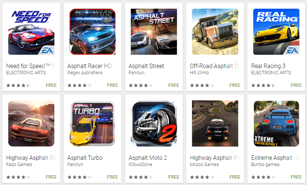 Google Play Store Search fake apps