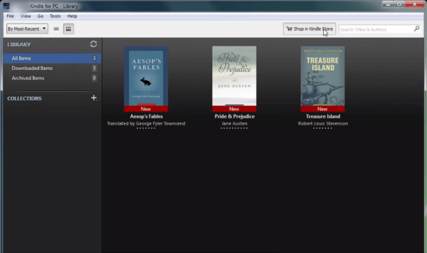 Kindle e-pub reader for windows