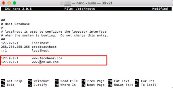 Edit Mac Host File Block Sites