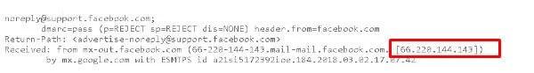 Find location of email sender