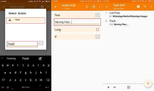 Flash a Message in Tasker moving whatsapp media