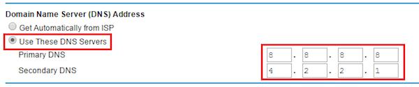 Netgear Router DNS Change