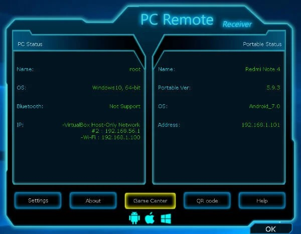 PC Remote for convert android to mouse and keyboard