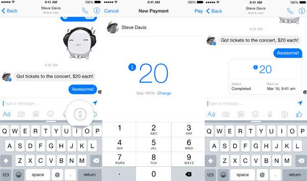send money facebook messenger