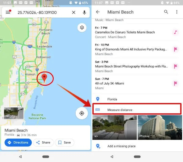 distance measurer google maps