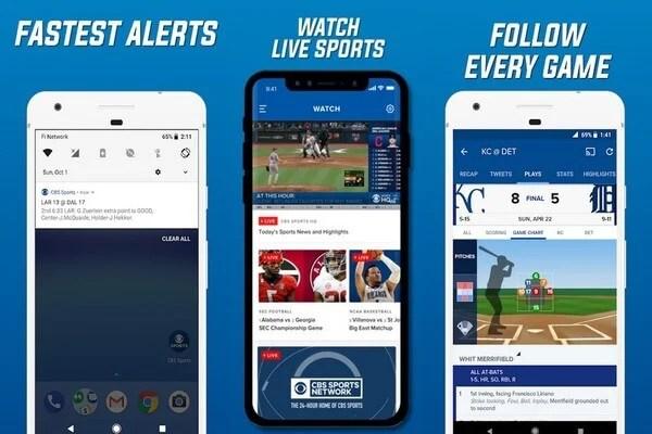 CBS Sports live score app