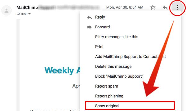 Gmail Header Menu