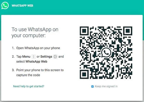 WhatsApp Web QR Code Scan