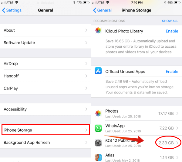 iPhone Storage Apps