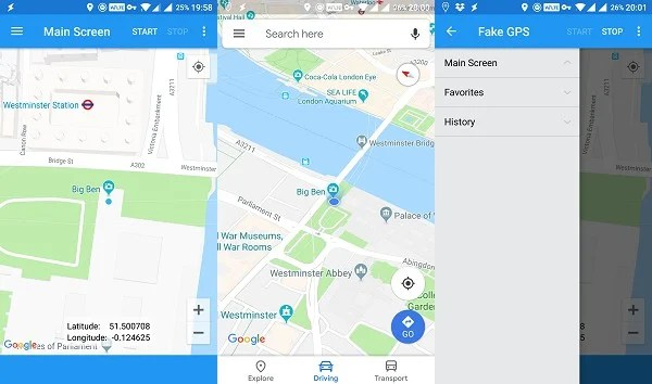 Fake GPS fake location