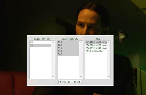 windows chrome netflix buffer shortcut