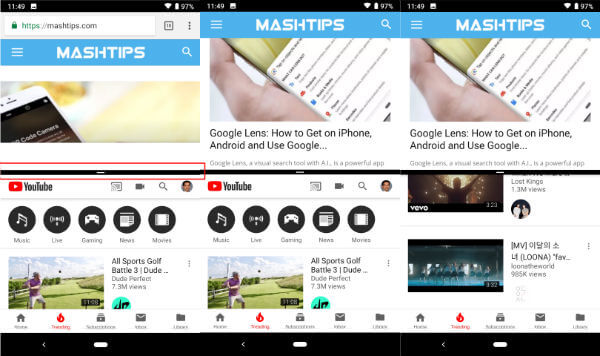 How to Enable Split Screen on Android Pie? | Mashtips