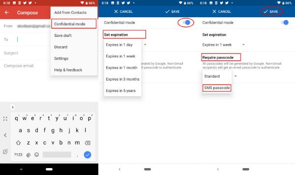 Gmail App Confidential Mode Compose