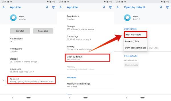 Set Waze Default Android