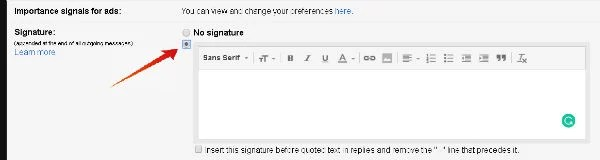 Signature in Gmail