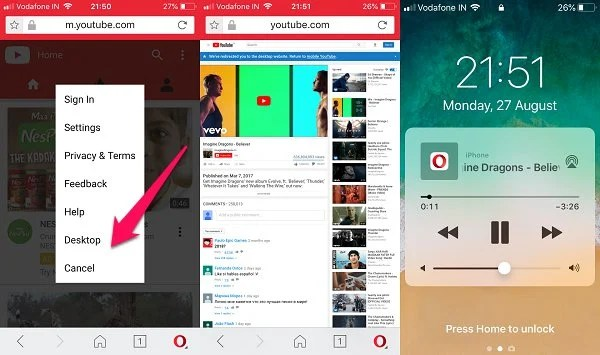 ios opera youtube