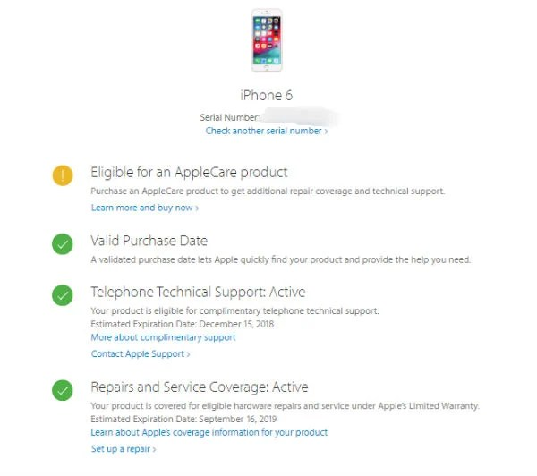How to check if your phone has warranty iphone