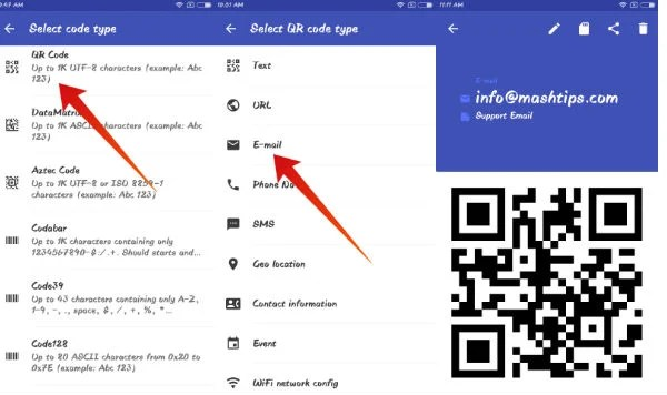 Android create qr code
