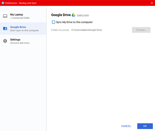 Google Drive offline sync Google Drive Backup and Sync on Windows