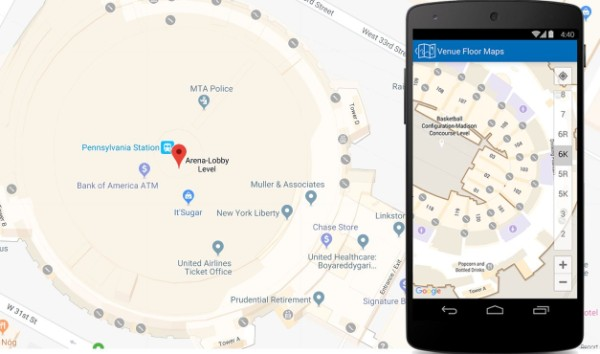 Google Maps indoor navigation