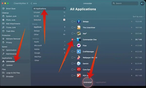 How to bulk uninstall applications using CleanMyMac X
