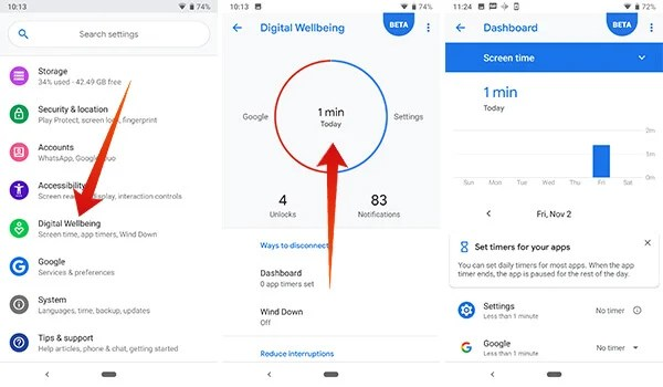 How to view your usage data in Digital Wellbeing