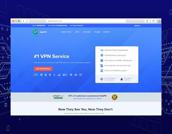 VeePN Home Screen