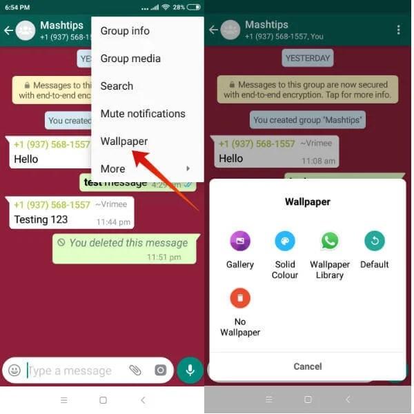 android whatsapp wallpaper