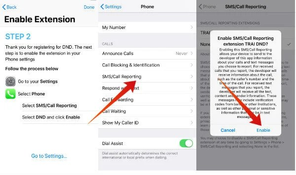 iphone trai dnd enable extension